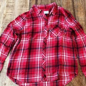 Universal Thread Red/White/Navy Flannel Size:M